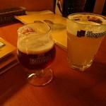 ニセコピザ - 海外のビールを多数そろえてます。しかし、サッポロビールはなぜか取り扱っていない。。