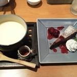 17932755 - みそプリン・ガトーショコラ(ランチ+150円のデザート)