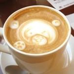 ワールドコーヒー - モーニングセットのカフェラテ