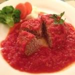 カフェバーンズ - ハンバーグ トマトソース