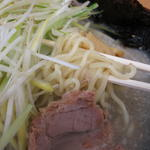 ラーメン青木亭 - 黒塩の麺