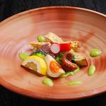 丸西商店 - 真鯛のそら豆ソース 『目でも舌でも春を感じれる旬のお料理を是非ご賞味ください。』