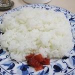 17945030 - ハンバーグランチのご飯¥530 国産でふっくらうまい!