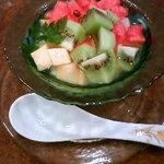銀座アスター - 杏仁豆腐。