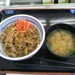 吉野家 8号線栗東店 - 2013.03.22  牛丼並と味噌汁、計430円!