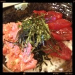 KA-TSU - ハーフ丼(冷凍本マグロ赤身漬け&ネギトロ)