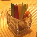 麻布長江 香福筳 - 季節野菜のスッチック バーニャカウダー風