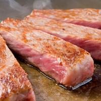 ステーキ みその - 口に入れた瞬間とろけるステーキは赤穂の焼塩だけで美味