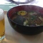 文芸の郷レストラン - 信長そば650円と    ビール350円