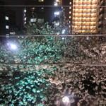 17966227 - 外は目黒川の桜が綺麗