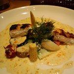 1797565 - ランチお魚/スズキのソテーお野菜のソースで