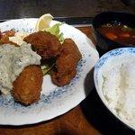 レストラン艸葉 - カキフライ定食
