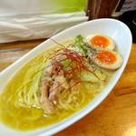 上州山賊麺 大大坊 - 3月からの限定ラーメン                             味玉白山賊麺 900円