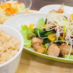 sakura食堂 - 豚肉と春野菜の黒酢あん炒め バルサミコソース定食【2013年3月】