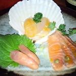 17986483 - 燻製魚盛(サーモン、ホタテ、タラコ)