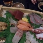 Gyoshoutakaaki - 隆明コースのお刺身。新鮮でした☆