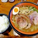 麺屋 一本気 - みそらー麺・めんま+ちゃーしゅうトッピング & ライス(2013年3月)