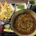 レストラン並木 - 天麩羅へぎそばセット 1200円