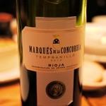 ワインホール神田小西 - マルケス デラ コンコルディア リオハ(スペイン、テンプラニーリョ100% 3800円)