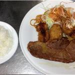 しらさぎの宿 丸福 - 丸福定食(ロース)