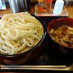うどん工房 まる玉 - つけ麺肉汁¥650