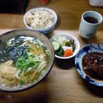 こんぴらうどん - 「うどん定食(さばみそ煮)」500円