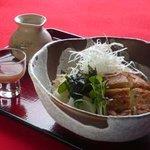 丼 お多福 - 冷し五目豆腐うどん