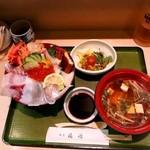 割烹 福源 - ランチ(海鮮丼) \1,365