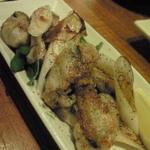 晴れる家 - 牡蠣と葱の炒め物