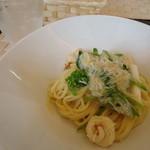 イル カフェ・モリタ - 白葱と魚介のクリームパスタ
