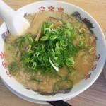 来来亭 - トロ肉チャーシュー丼定食(こってりラーメン・麺固め、ねぎ多め)