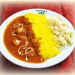 JAY - カレーライスランチ カレー(チキンor野菜)・ライス・サラダ 650円