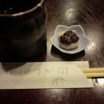 手打そば さか間 - 蕎麦茶と甘味