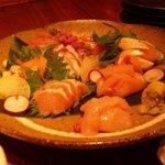薄伽梵 - 鶏とお魚の造り盛り合わせ(夏Ver)