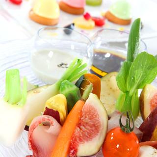『ヘルシー』『ビューティー』新鮮野菜をふんだんに使用!