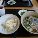 18014122 - 栗おこわ山菜うどんセット(850円)