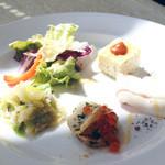 ラ・トランピスタ - Aランチの前菜盛り合わせ