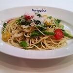 18015485 - パスタ アンチョビと春野菜の菜園風