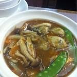 18017677 - 牡蠣のあんかけ揚げ豆腐