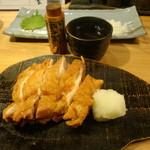 18018410 - 鶏の竜田揚げ(黒七味だし)
