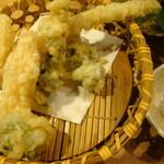 こだわりもん一家 - 春野菜の天ぷら