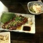 酒の友田 - 料理写真:レバ刺し