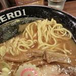 麺屋ZERO1 - 新節系ラーメン 680円 麺を出したところ