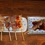 鶏鳥kitchen ゆう - 焼き鳥5種盛り。