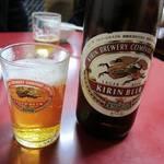 ひさご - 瓶ビールはキリンのラガー