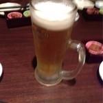 魚の銀とと 魚問屋直営店 - 生ビール