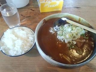 吉宗 - カレーうどん850円+ライス100円