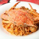 渡り蟹のトマトクリームソース 生パスタ