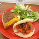 カフェトリコ - キッシュ+サンドプレート