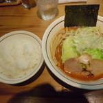 らぁ麺 あんど - こく辛味噌らぁ麺「850円」+ライス「100円」